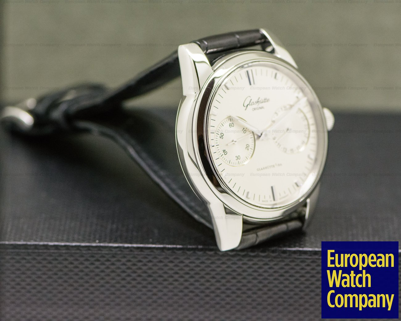 Glashutte Original 39-58-02-02-04 Senator Hand Date SS Silver Dial
