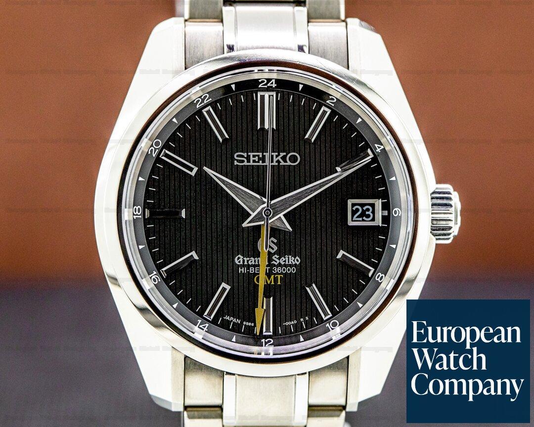 Grand Seiko SBGJ013 Grand Seiko Hi Beat 36000 GMT Automatic Titanium / Black Dial