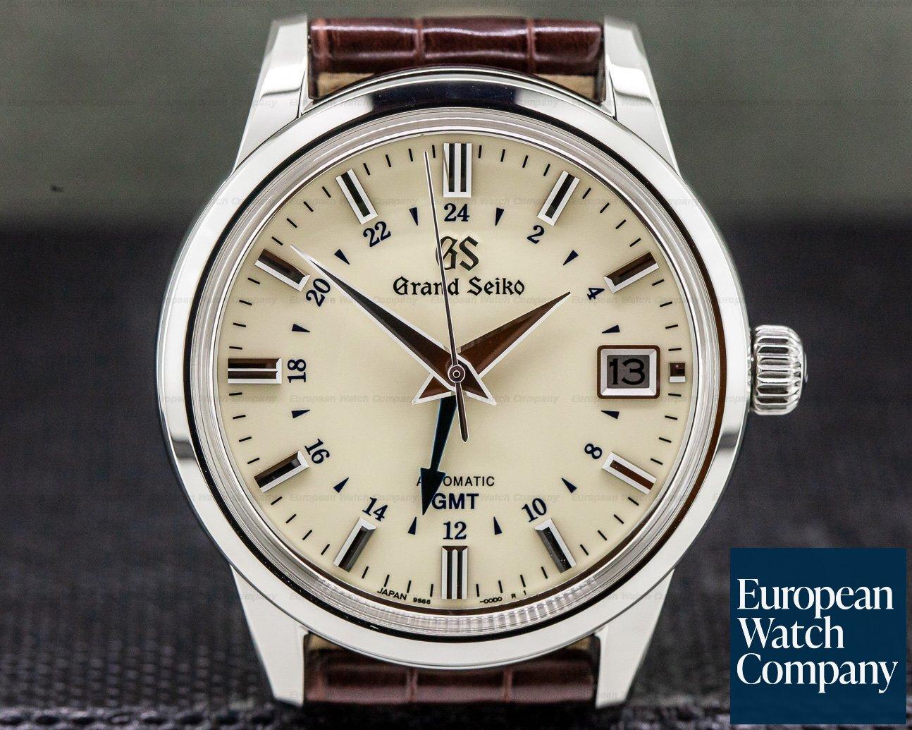Grand Seiko SBGM221 Grand Seiko Automatic SBGM221 SS / Cream Dial GMT