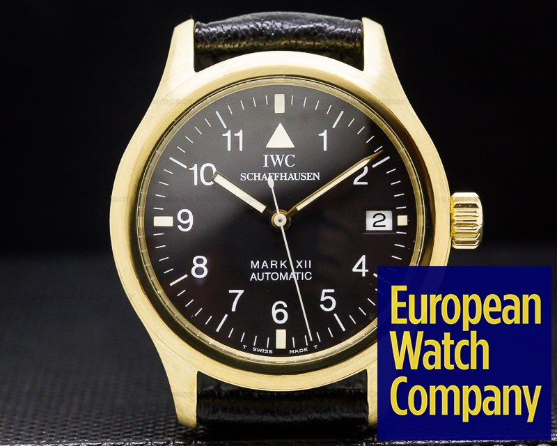 IWC 3241 Mark XII 18k Yellow Gold / JLC Caliber FULL SET