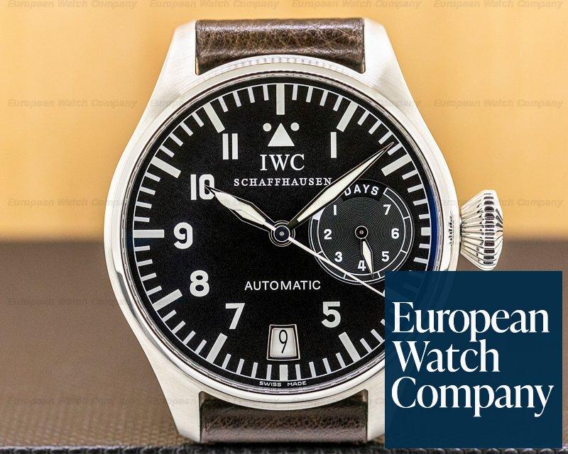 IWC 5002-01 Big Pilot 5002 SS 7 Day FULL SET SERVICED