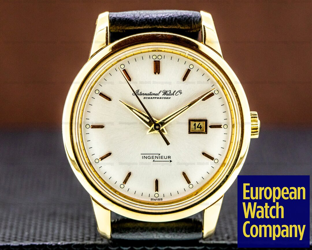 IWC Vintage Ingenieur 18K Yellow Gold Silver Dial Ref. 666 AD