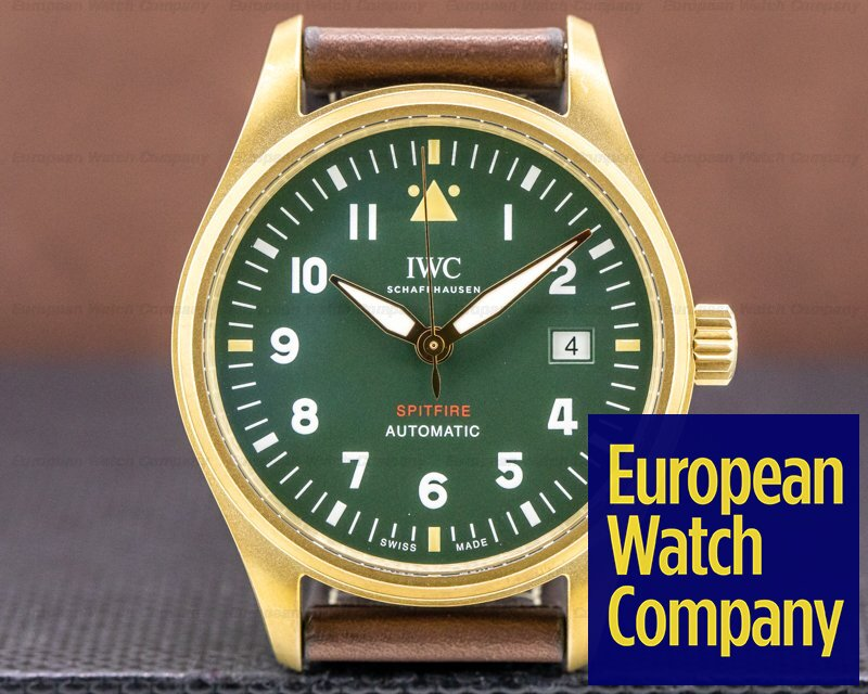IWC IW326802 Spitfire Automatic Bronze Green Dial
