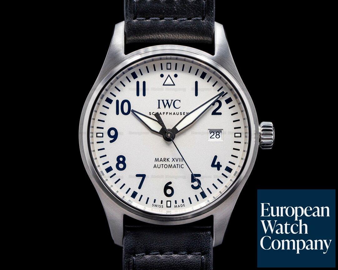 IWC IW327012 Pilot's Watch Mark XVIII Silver Dial UNWORN