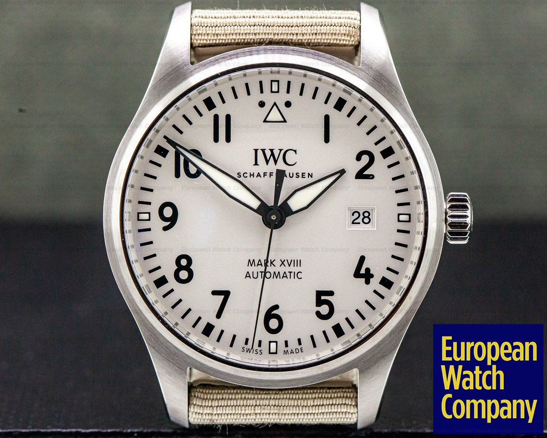 IWC IW327017 Mark XVIII White Dial SS