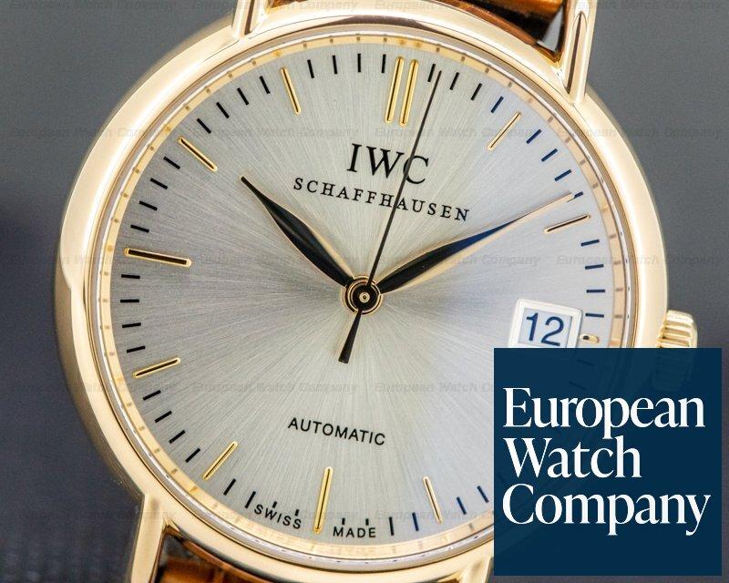 IWC IW356403 Portofino Automatic Rose Gold Silver Dial