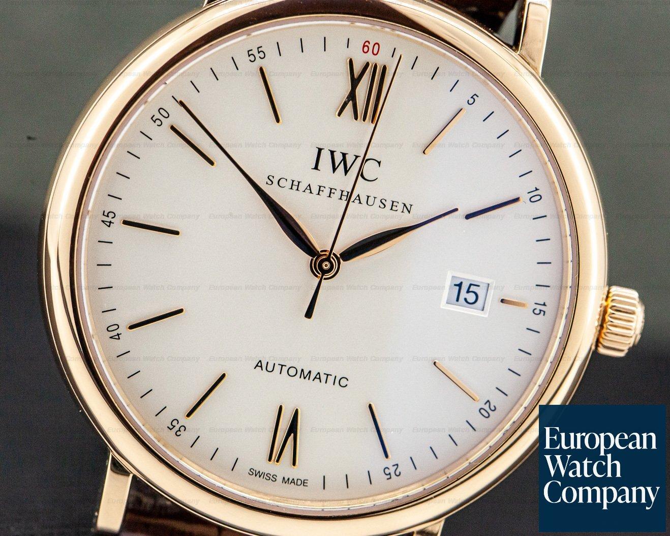 IWC IW356504 Portofino Automatic Rose Gold Silver Dial