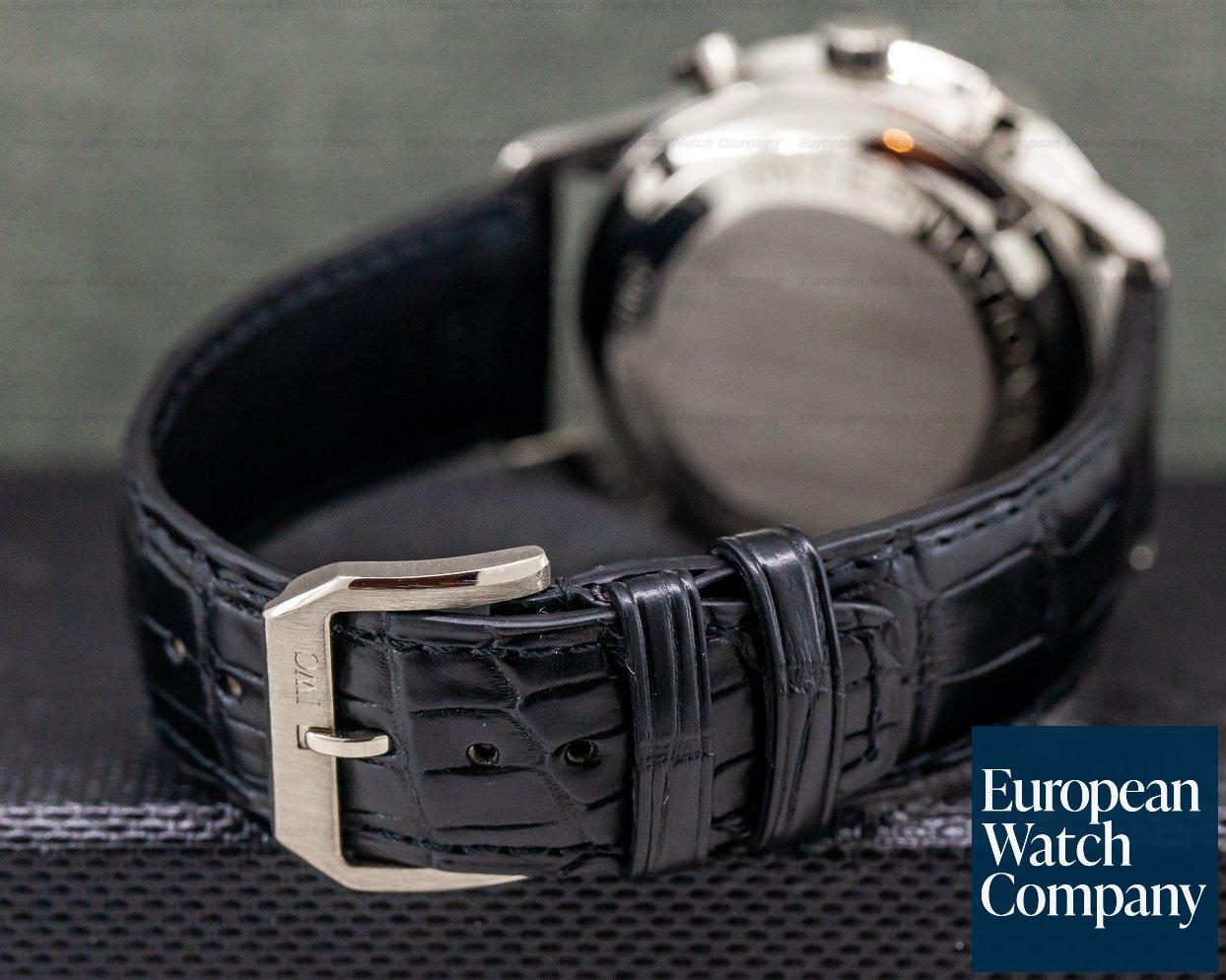 IWC IW371413 Portuguese Chronograph 18k White Gold Black Dial