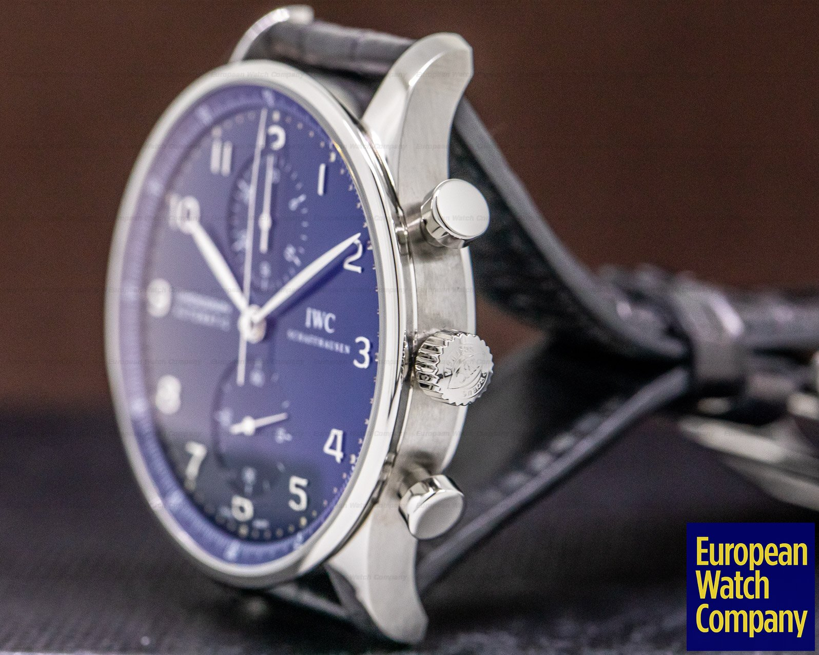 IWC IW371491 Portuguese Chronograph SS Blue Dial