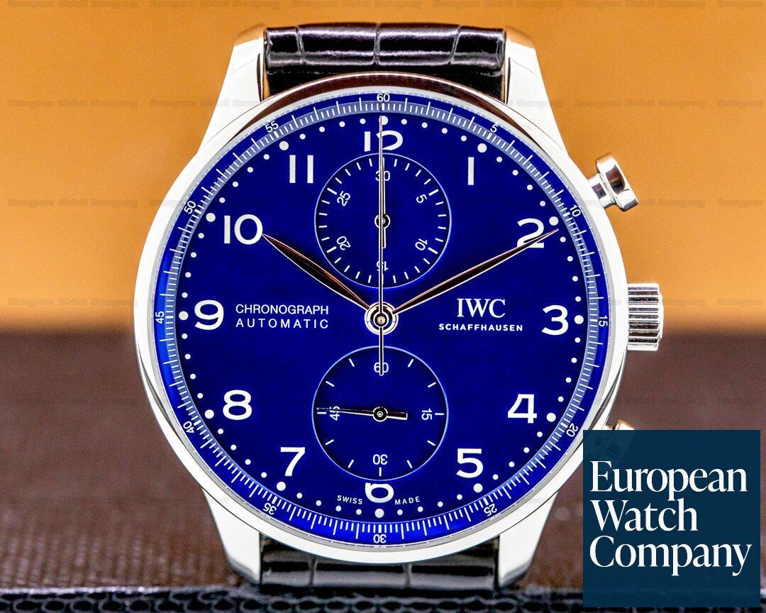 IWC IW371601 Portugieser Chronograph Blue Dial Edition
