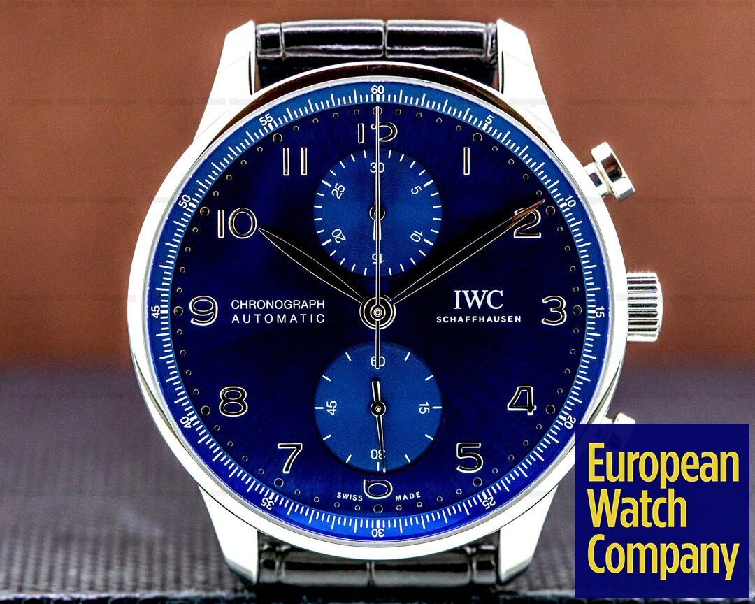IWC Portuigieser Chronograph SS Blue Dial 2020 Ref. IW371606