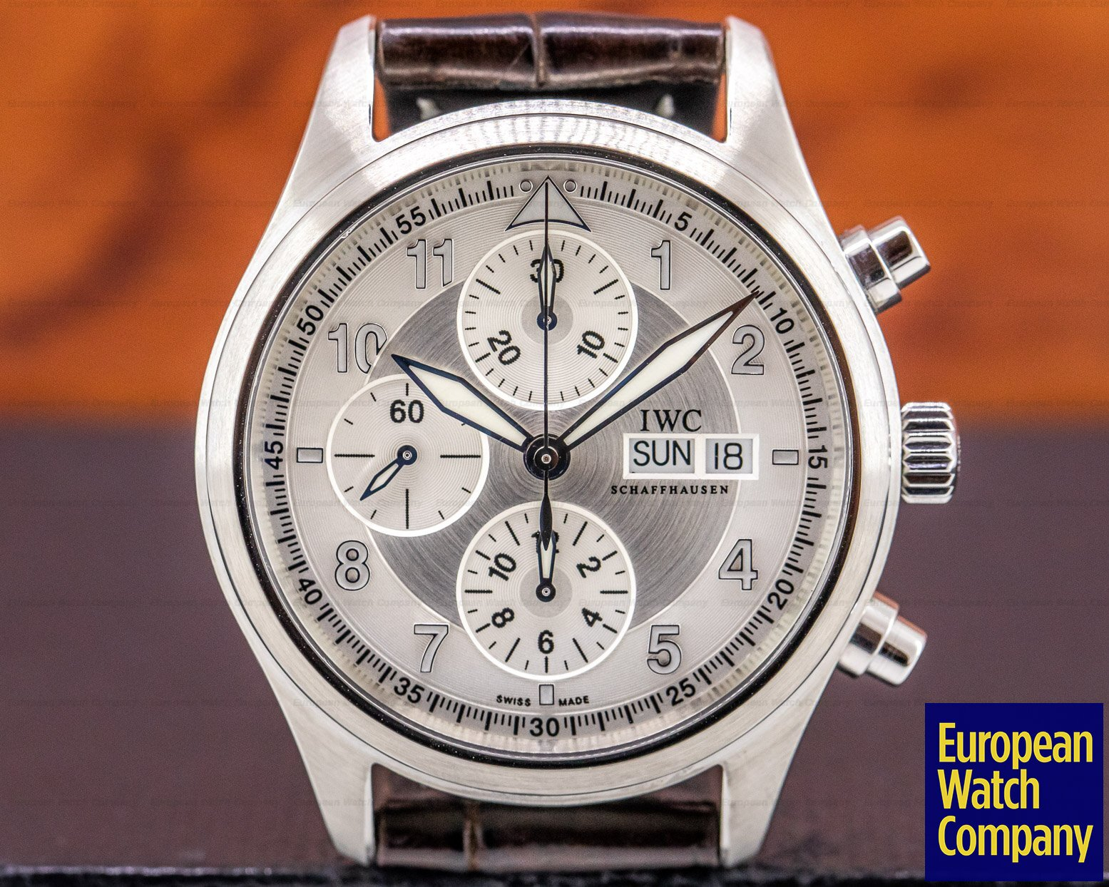 IWC IW371702 Pilot Spitfire Chronograph SS Silver Dial 42MM