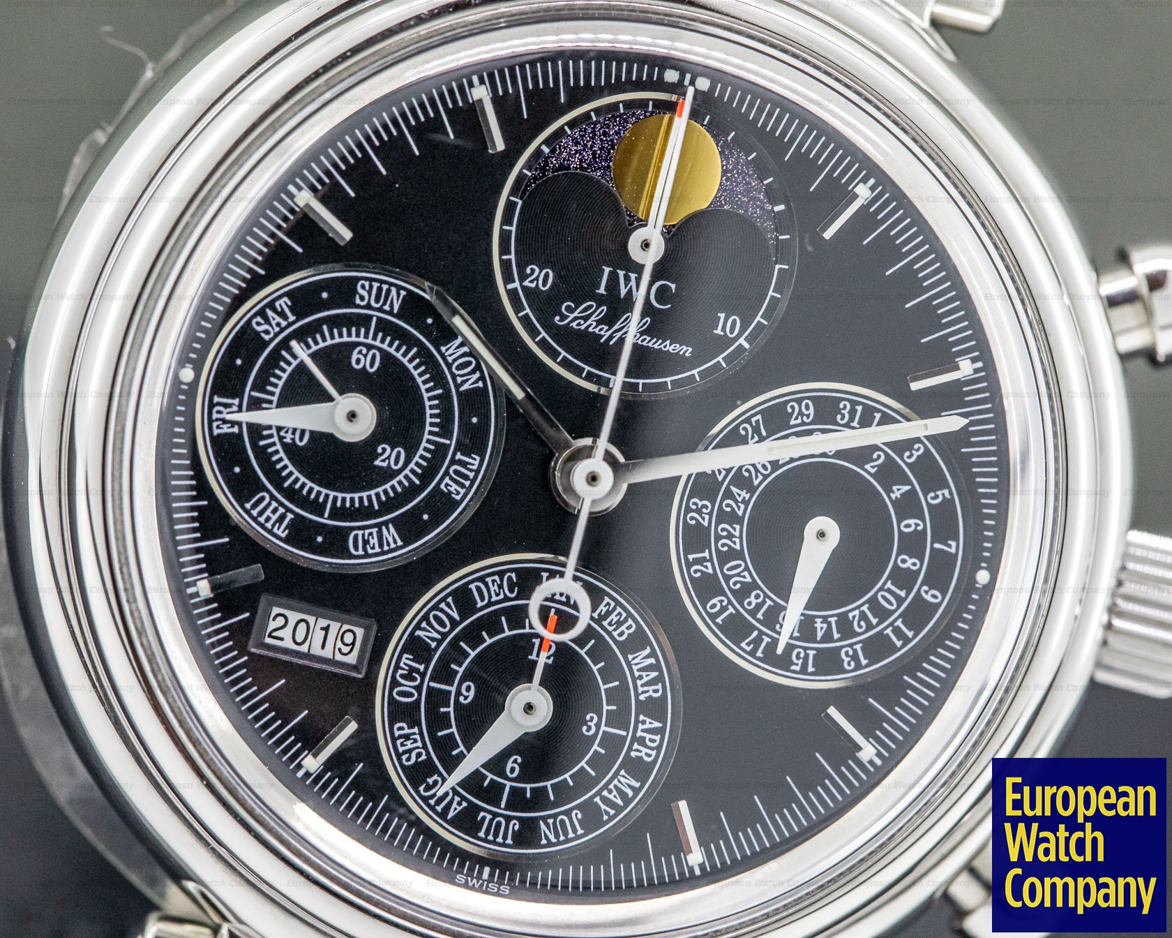 IWC IW375028 Da Vinci Perpetual Chronograph Black SS / Alligator