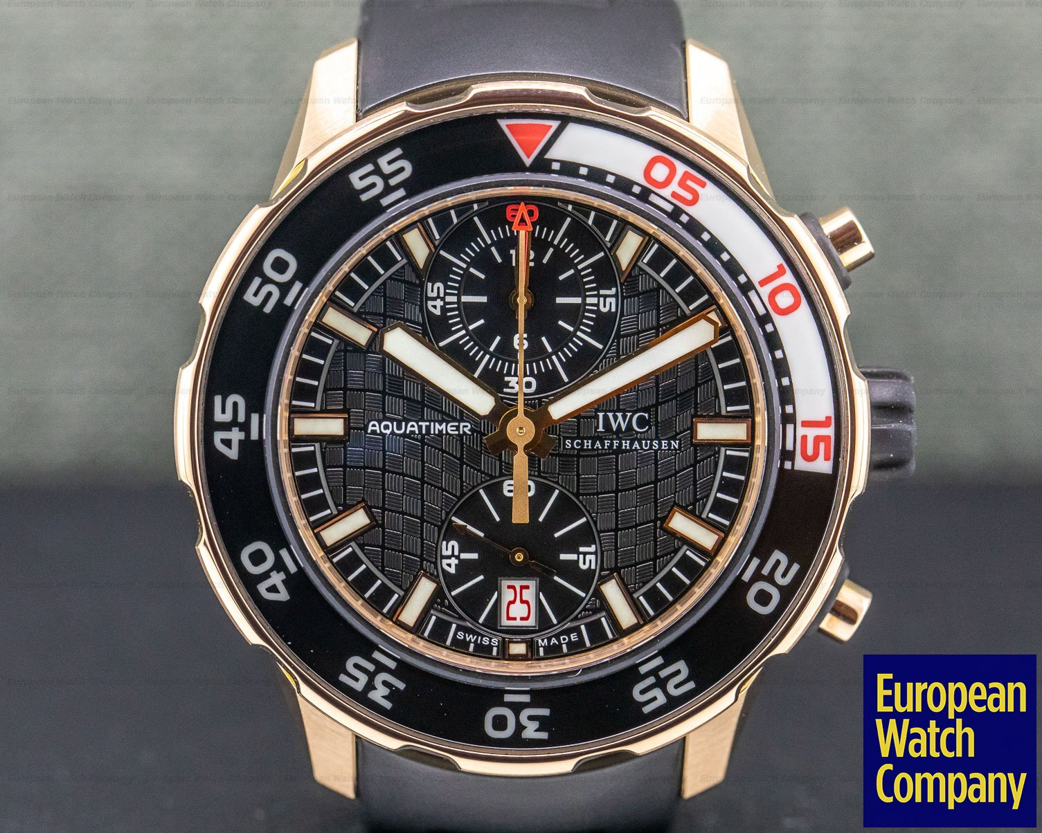 IWC IW376905 18K Rose Gold Aquatimer Flyback Chronograph Rubber