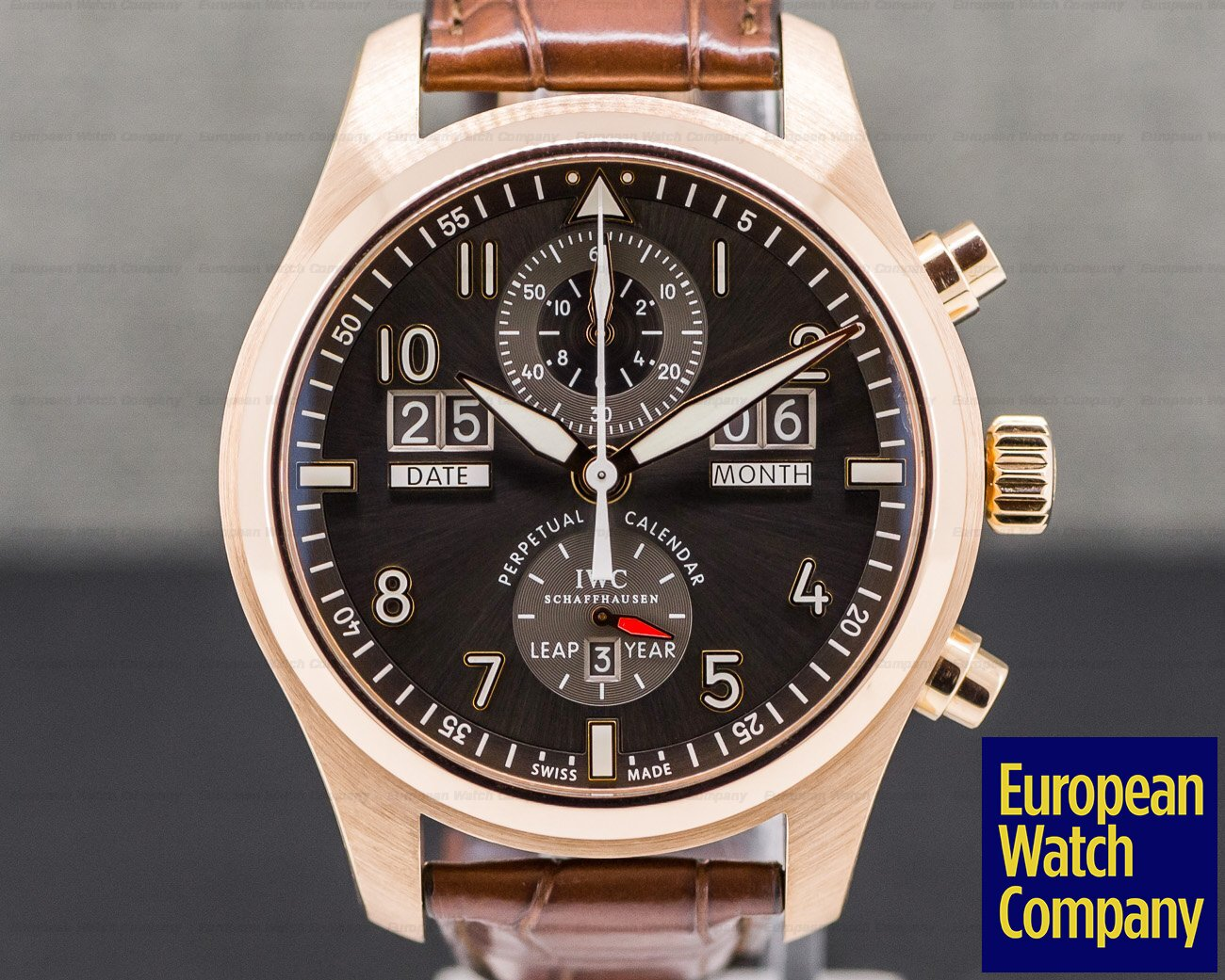 IWC IW379103 Pilot Spitfire Perpetual Calendar Digital Date 18K Rose Gold