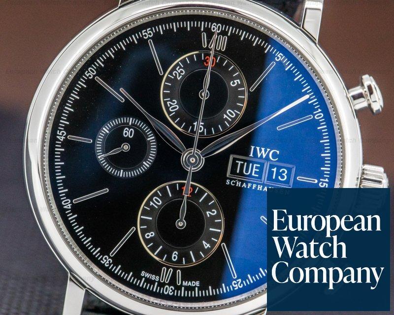 IWC IW391008 Portofino Chronograph SS Black Dial