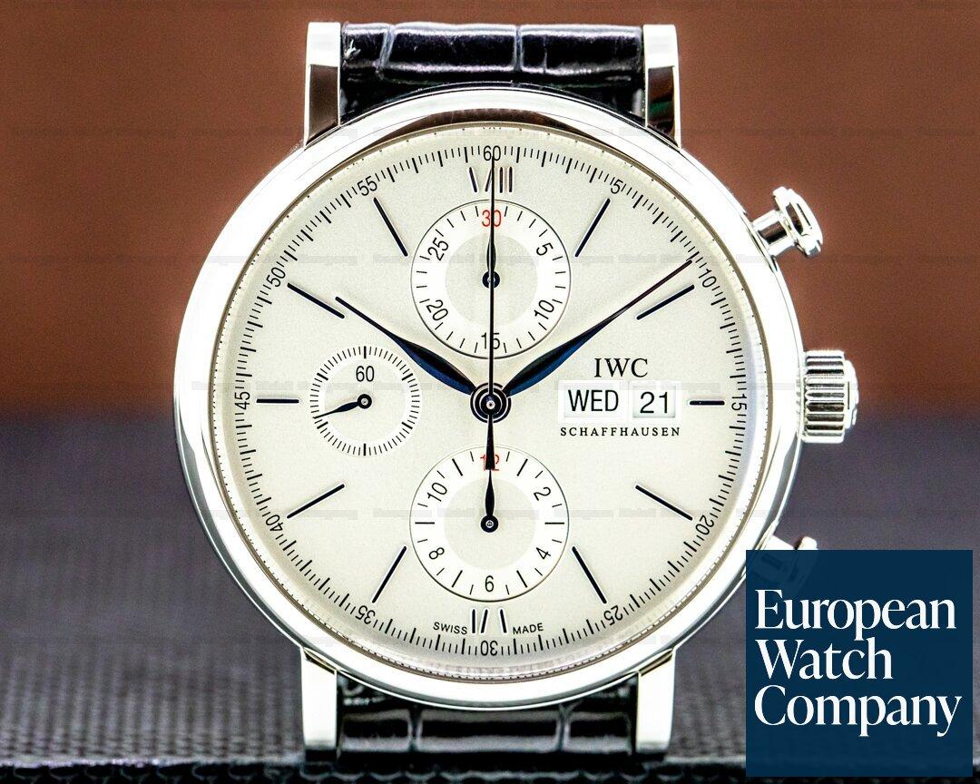 IWC Portofino Chronograph SS Silver Dial 2020 Ref. IW391027