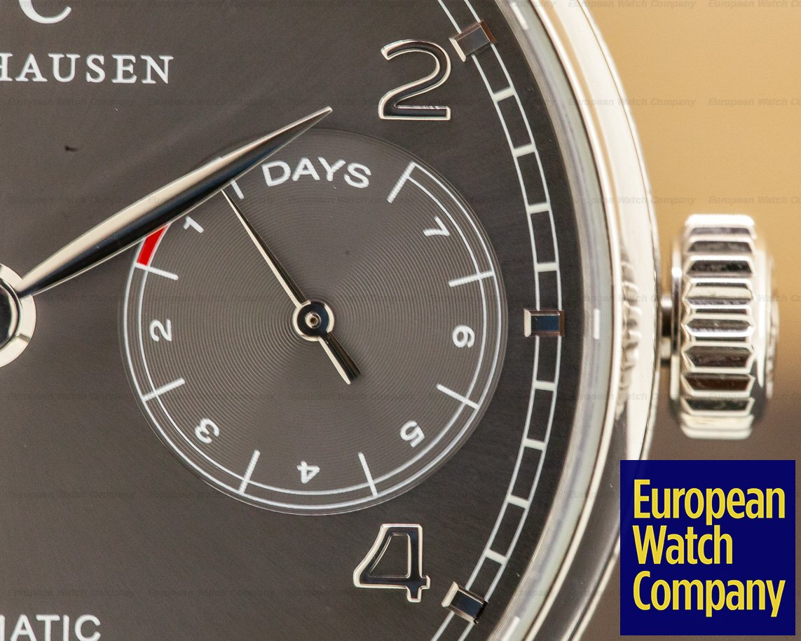 IWC IW500106 Portuguese 7 Day Automatic 18K White Gold / Grey Dial