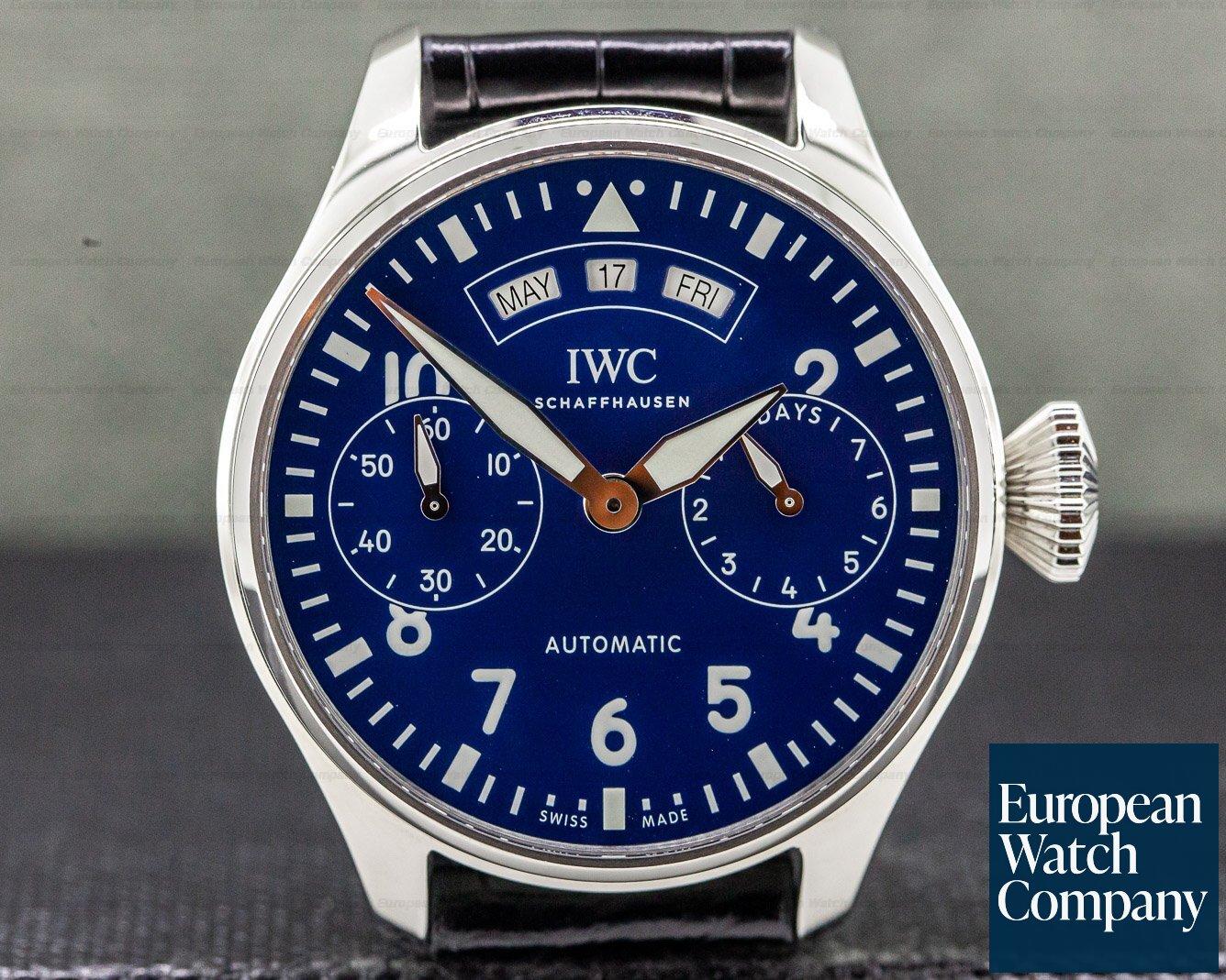 """IWC IW502708 Big Pilot Annual Calendar Edition """"150 Years"""" SS UNWORN"""