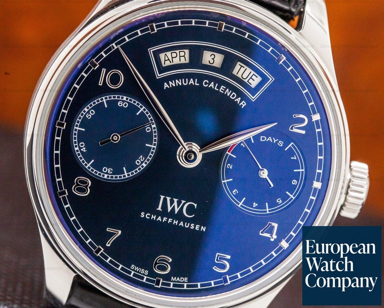 IWC IW503502 Portuguese Annual Calendar SS Blue Dial