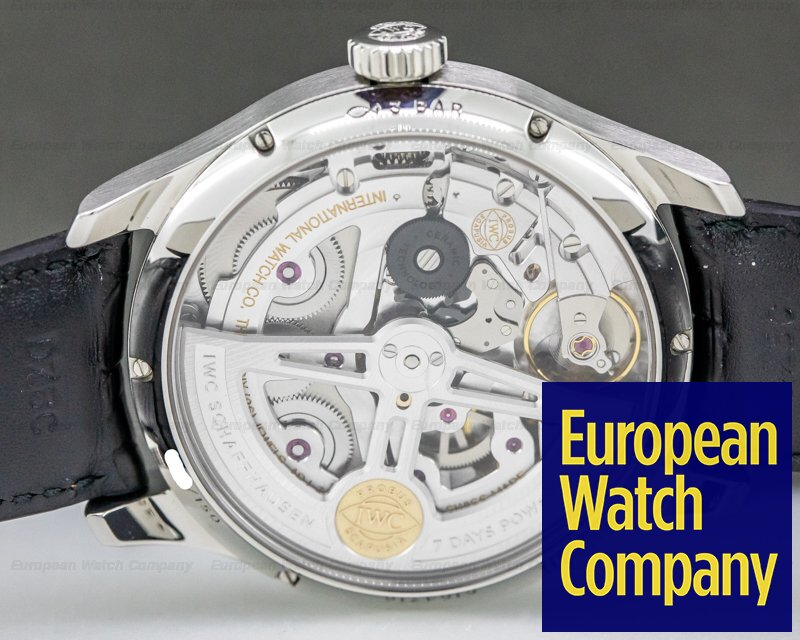 """IWC IW503510 Portuguese Annual Calendar SS Limited Green Dial """"Middle East"""""""