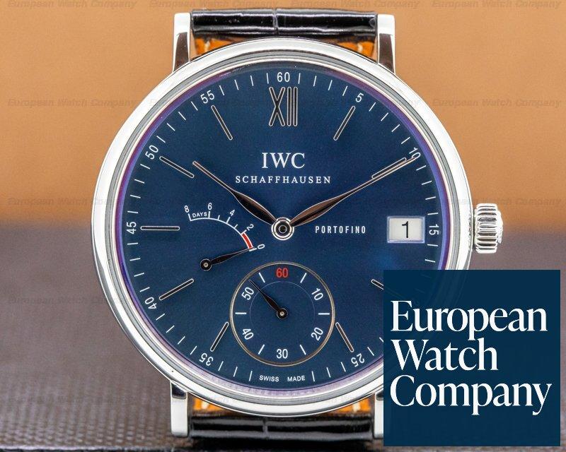 IWC IW510106 Portofino Hand Wound Eight Days SS Blue Dial