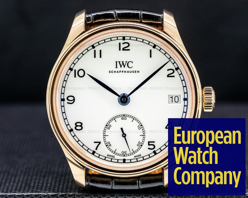 IWC IW510211 Portuguse Hand Wound 8 Days 18k Rose Gold 150 Years