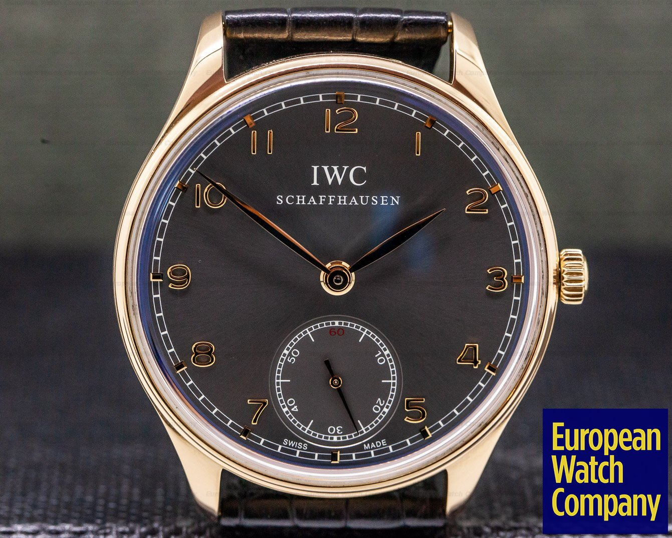 IWC IW545406 Portuguese Hand Wound Silver Dial 18K Rose Gold