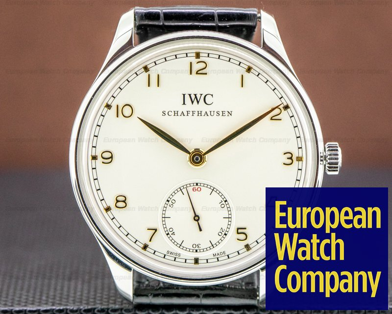 IWC IW545408 Portuguese Hand Wound Silver Dial SS