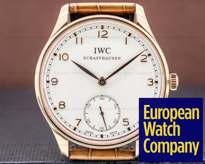 IWC IW545409 Portuguese Hand Wound Silver Dial 18K RG