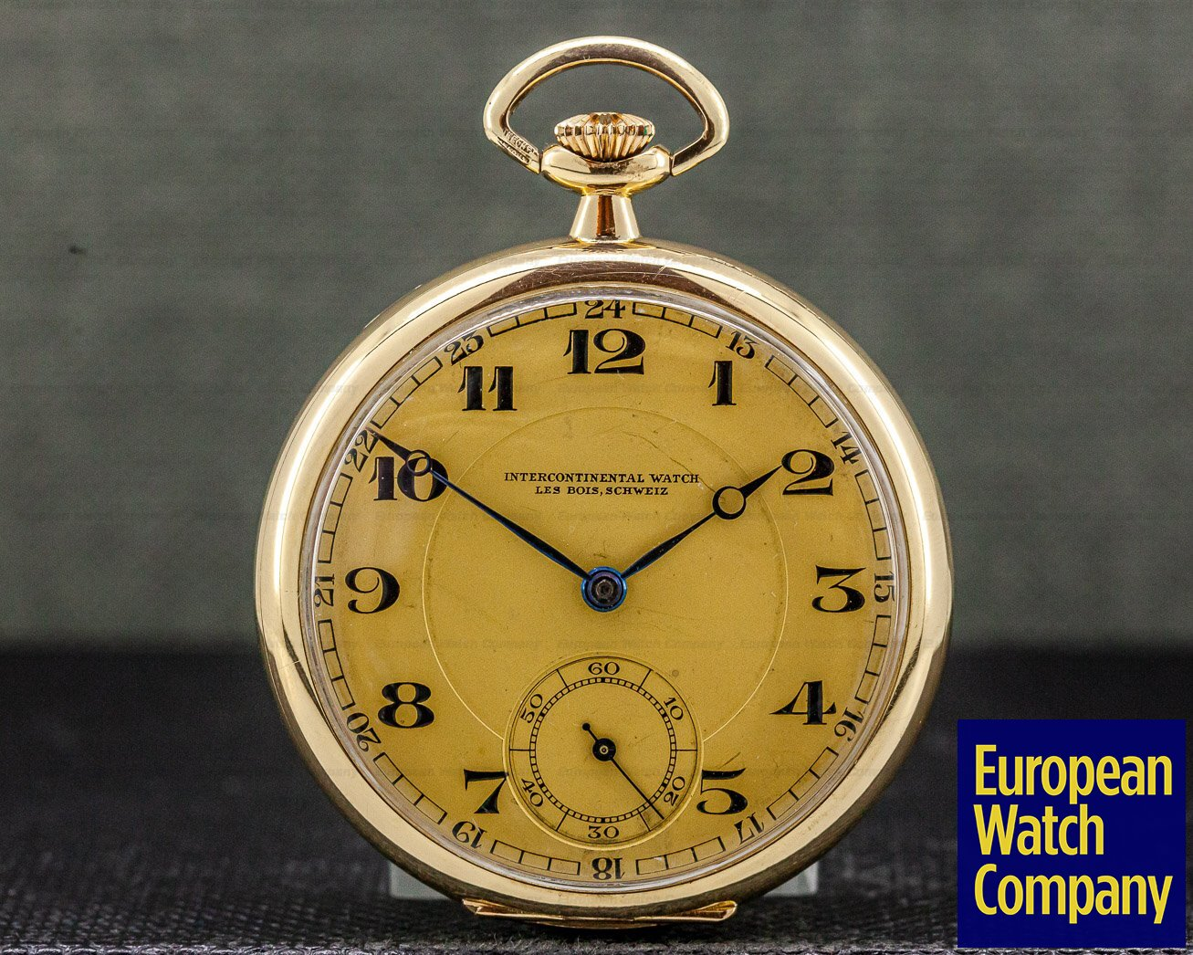 Intercontinental Watch IWC Pocket Watch Intercontinental Watch 14K YG Vintage Pocket Watch 48MM