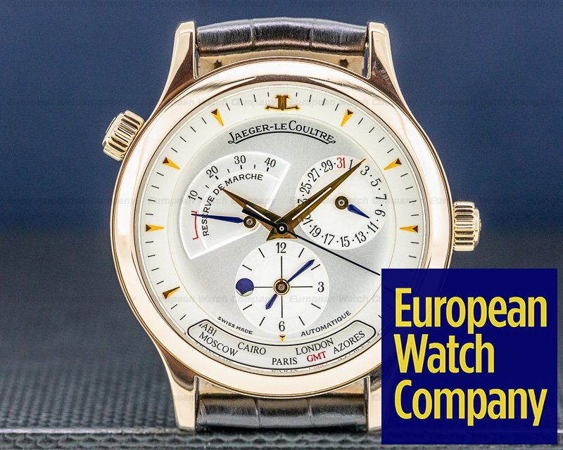 Jaeger LeCoultre 142.2.92 Master Geographic 18K Rose Gold 38MM
