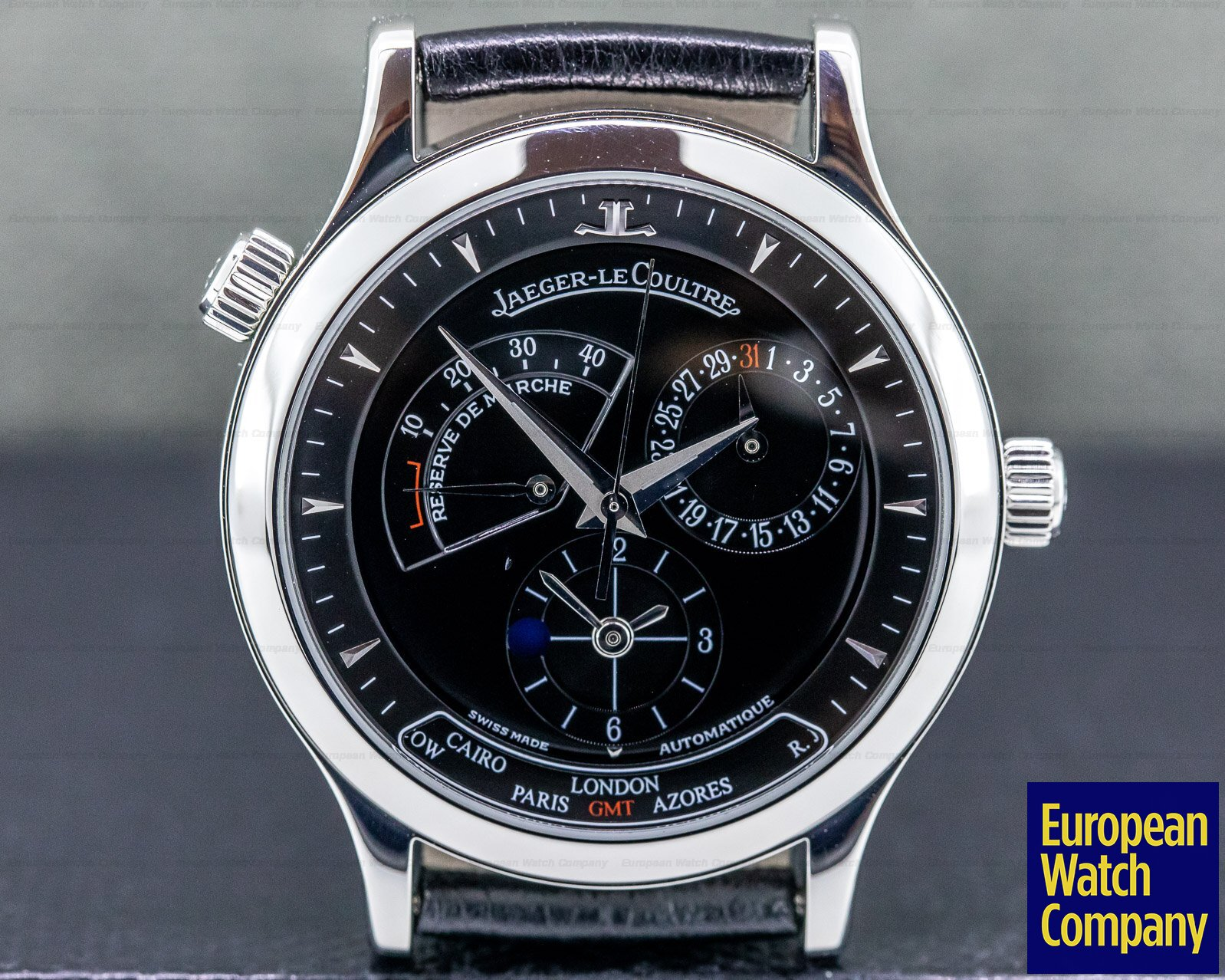 Jaeger LeCoultre 142.84.20 Master Geographic SS Black