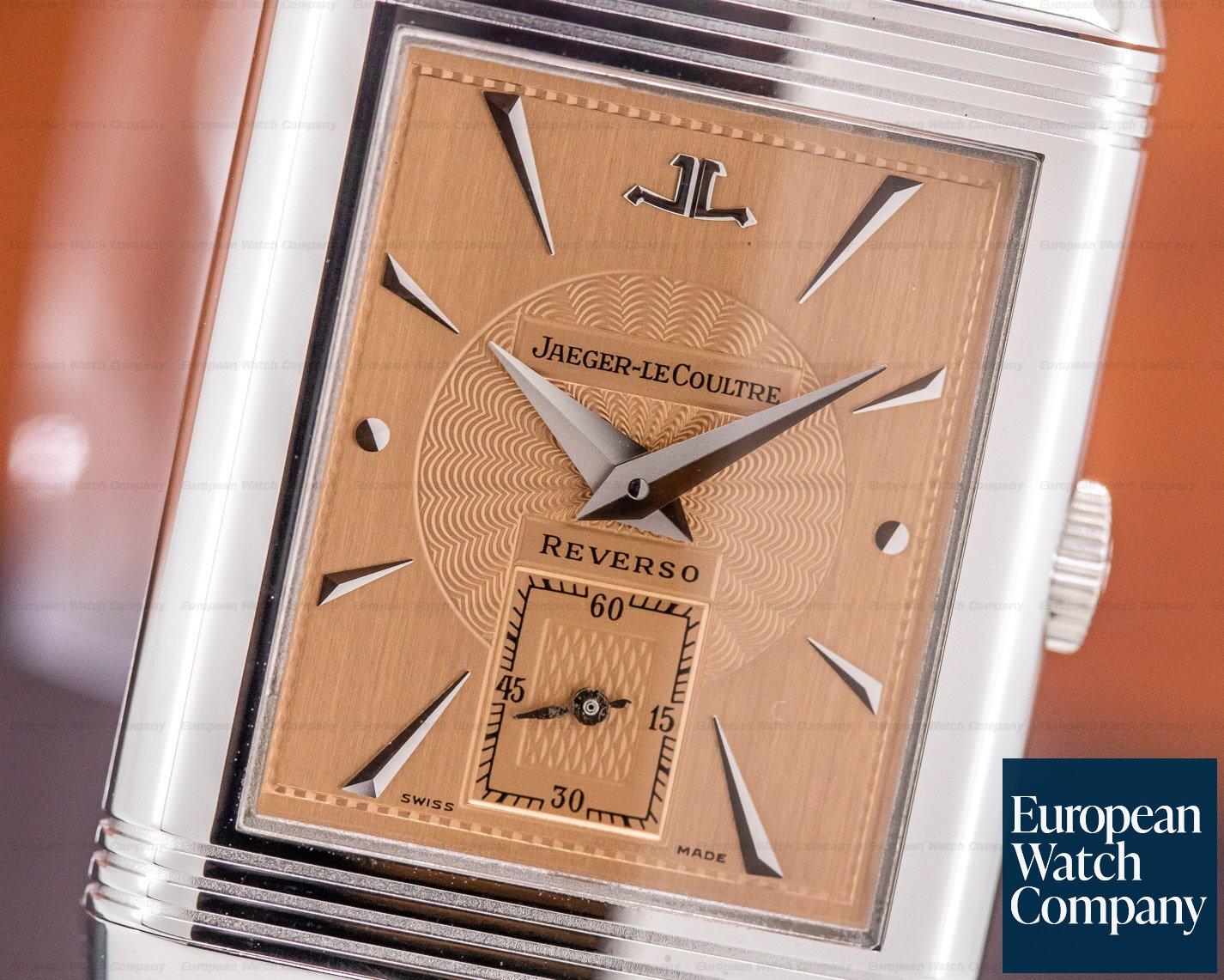 Jaeger LeCoultre 277.3.60 Art Deco Reverso 18K White Gold / Bracelet Salmon Dial RARE