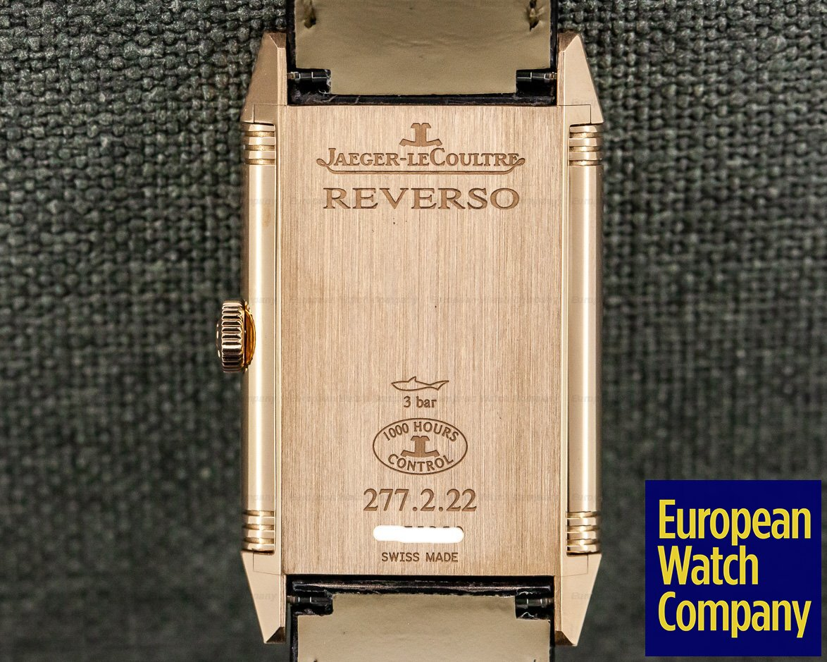 "Jaeger LeCoultre 2782560 Grande Reverso Ultra Thin ""Tribute 1931"" Chocolate 18K Rose Gold"