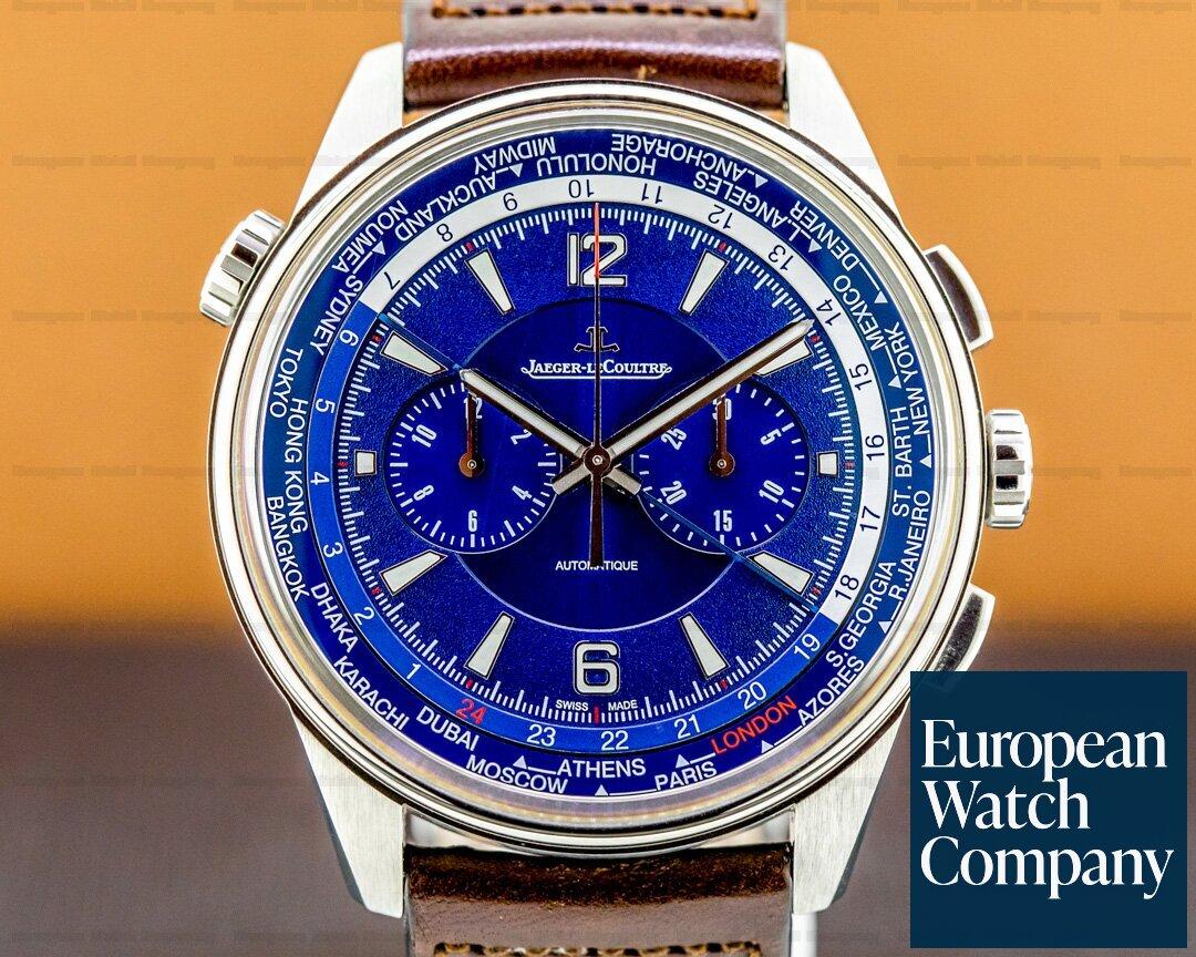 Jaeger LeCoultre 905T480 Polaris Chronograph WT Titanium Blue Dial
