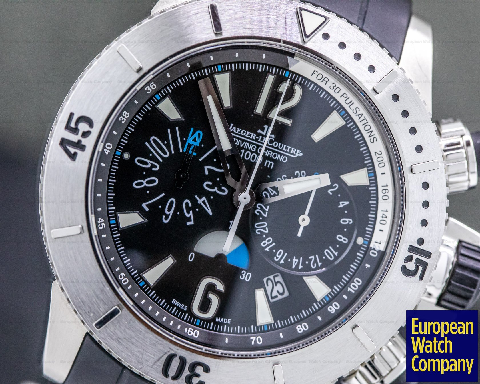 Jaeger LeCoultre Q186T770 Master Compressor Diving Chronograph Titanium/ Rubber Bracelet