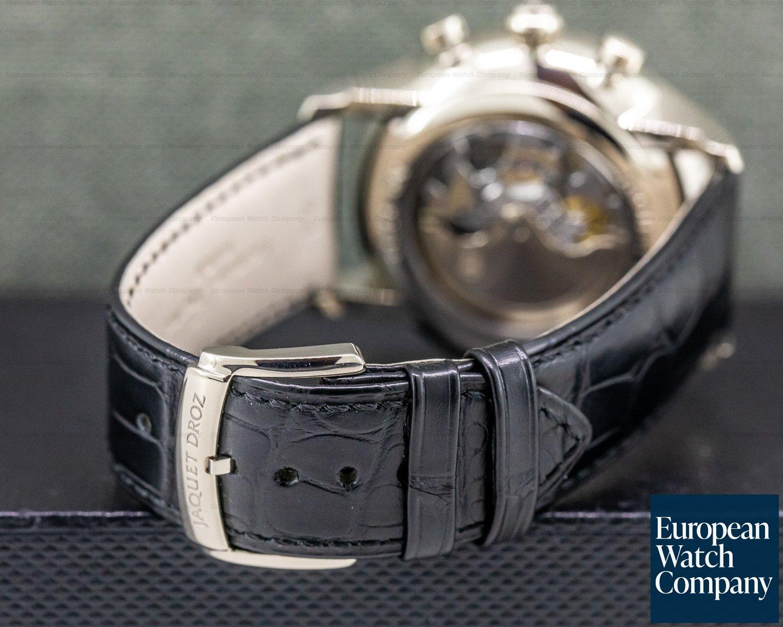Jaquet Droz J024034202 Chrono Grande Date White Gold Black Dial