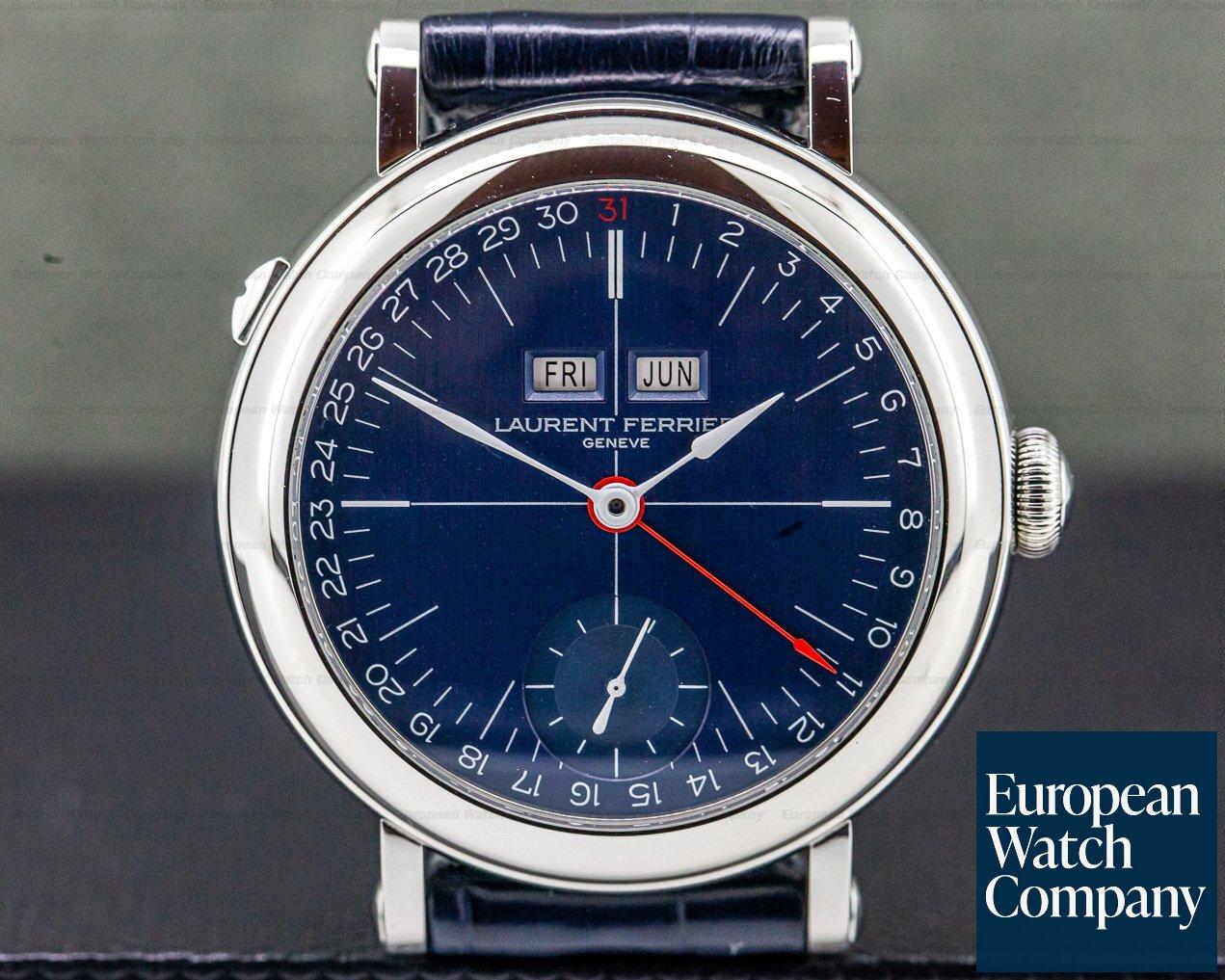 Laurent Ferrier LCF025.AC.CW Galet Annual Calendar Montre Ecole SS Blue Dial