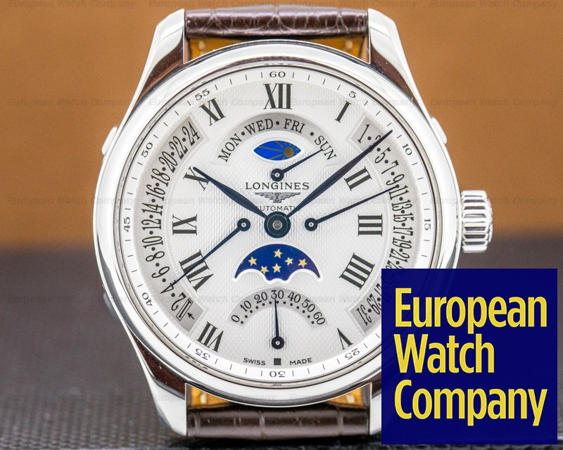 Longines L2.739.4.71.3 Master Collection GMT Retrograde Moon SS SS