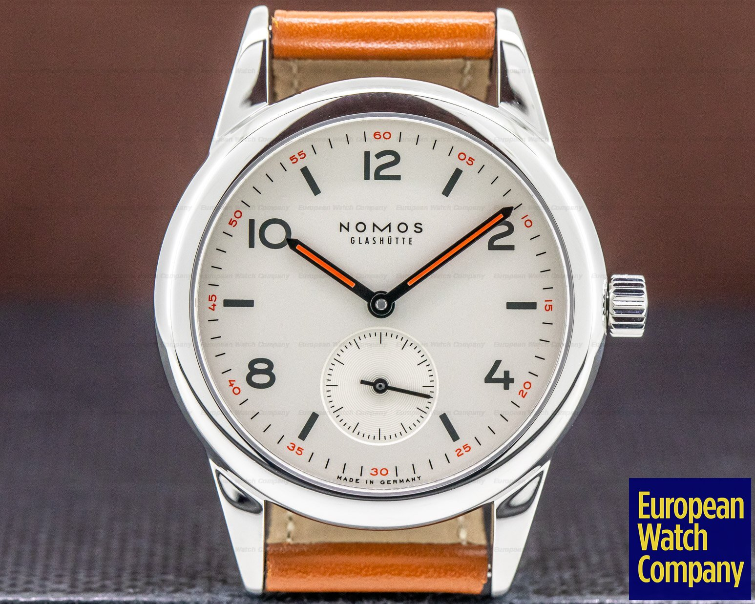 Nomos 701 Club Manual Wind Silver Dial SS / Leather
