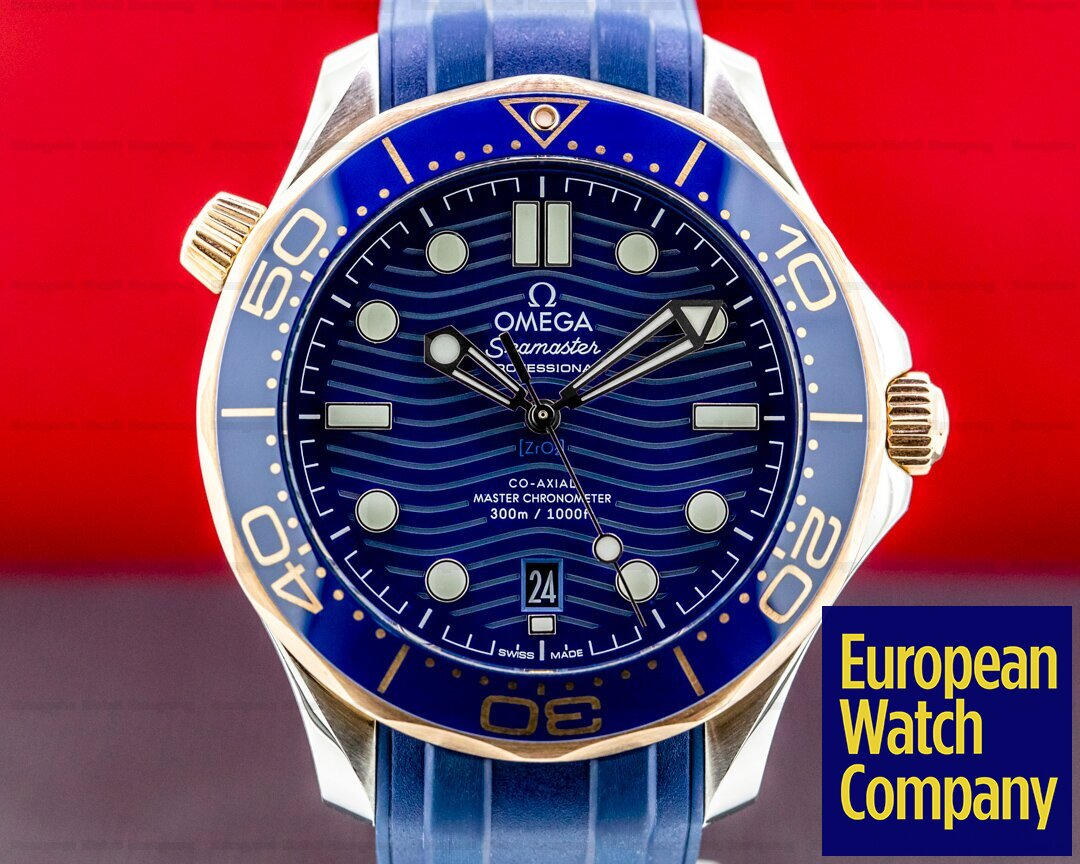 Omega Seamaster Diver 300M Steel and Rose Gold Co-Axial Master Chronometer Ref. 210.22.42.20.03.002