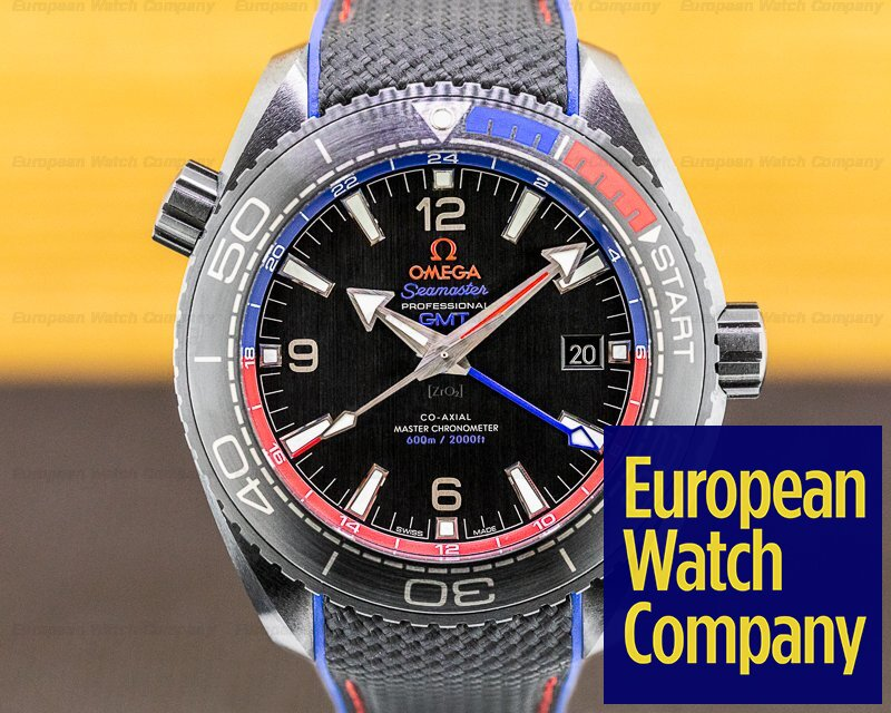 Omega 215.92.46.22.01.004 Seamaster Planet Ocean ETNZ Deep Black GMT 600M Co-Axial Ceramic