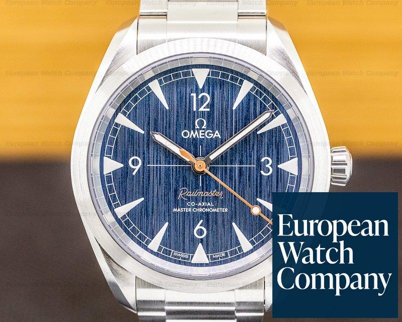 Omega 220.10.40.20.03.001 Railmaster Master Chronometer SS Co Axial Blue Dial