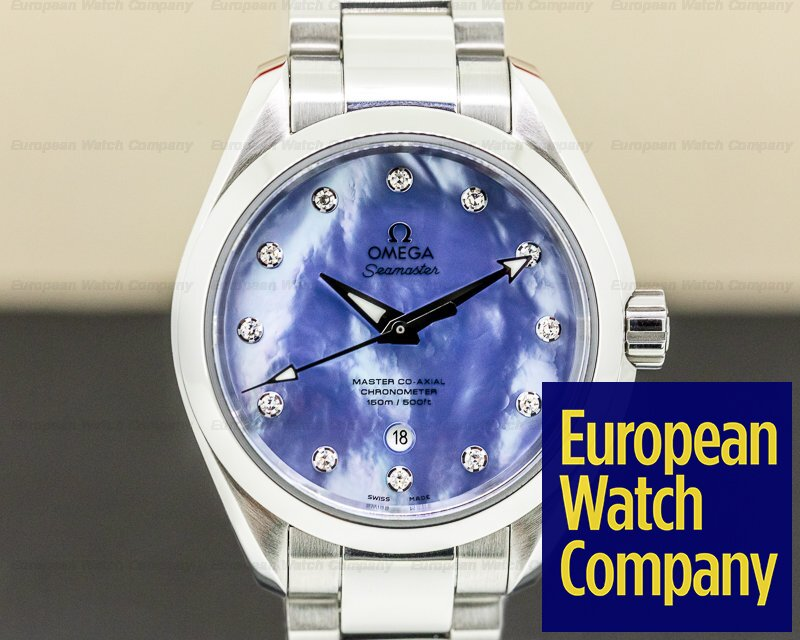 Omega 231.10.34.20.57.002 Seamaster Aqua Terra Master Co-axial Blue MOP Diamonds 34mm