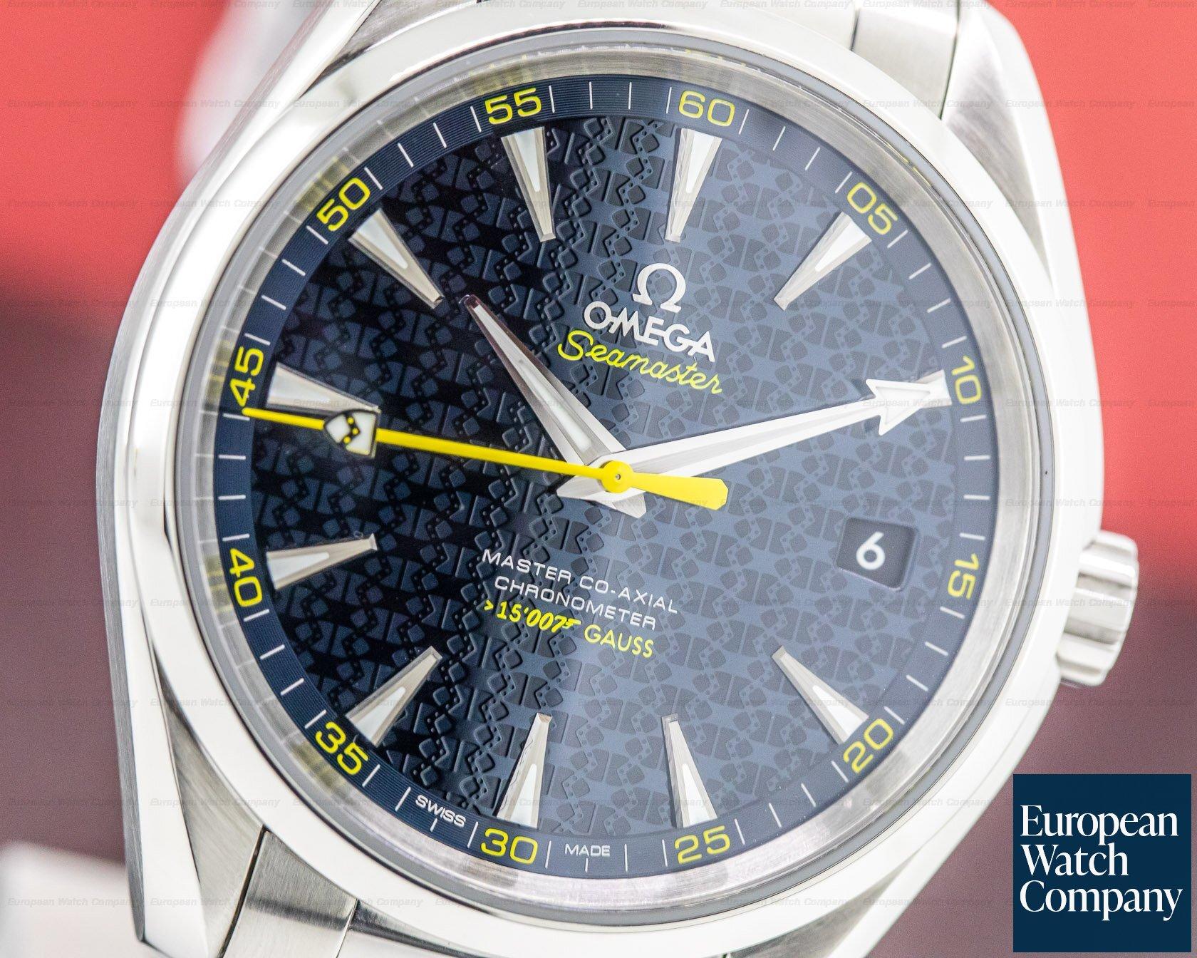 Omega 23110422103004 Aqua Terra James Bond Co-Axial 150M Blue Dial SS / SS