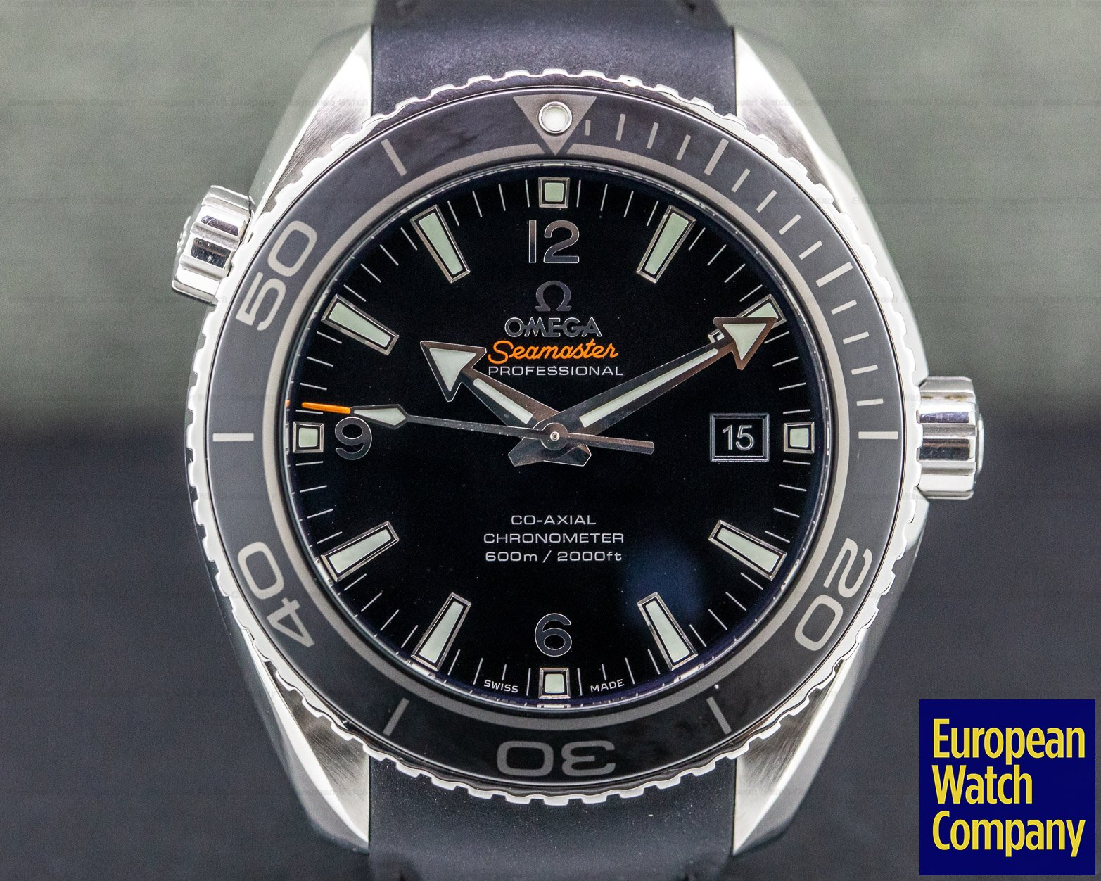 Omega 232.30.46.21.01.003 Seamaster Planet Ocean Co-Axial SS / Rubber 45.5MM