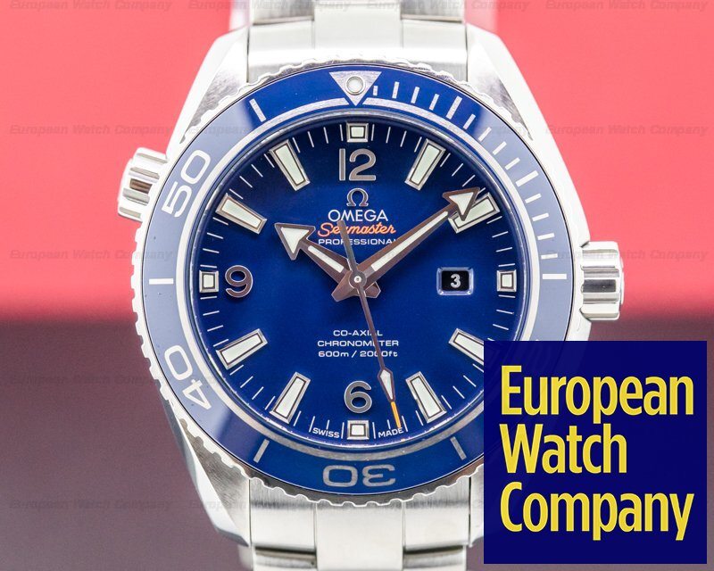 Omega 232.90.38.20.03.001  Seamaster Planet Ocean Co-Axial Blue Dial Titanium