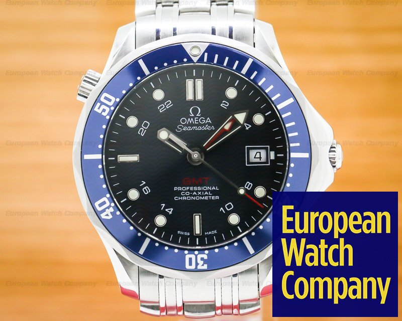 Omega 2535.80.00 Seamaster GMT Blue Dial SS