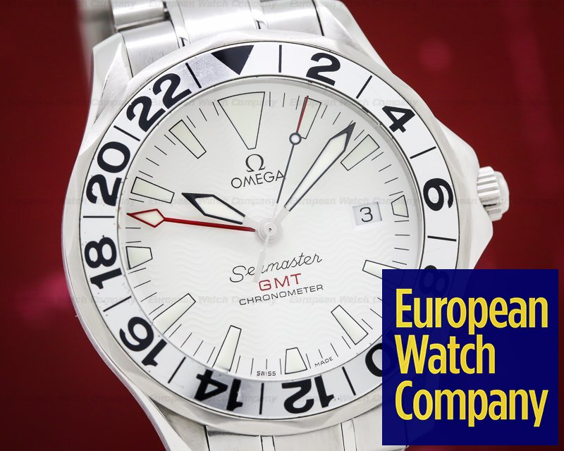 Omega 2538.20 Seamaster GMT White Dial